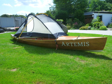 Axel's tarp for his ARTEMIS sailing canoe
